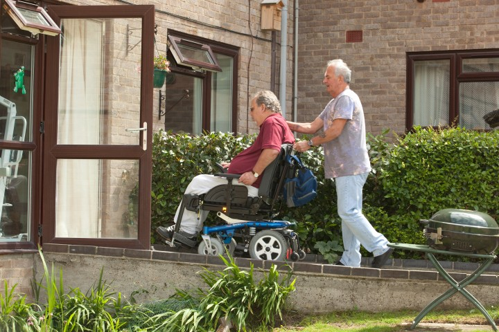 Disabled man with live-in carer